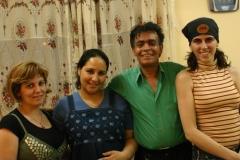 Charo, Abdelfatah Naeem y esposa y Leena Qadi
