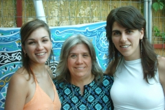 Blanca López, Rosa Pirámides y Leena Qadi