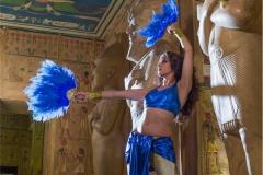 Danza Faraónica Templo Luxor Abanicos de Plumas