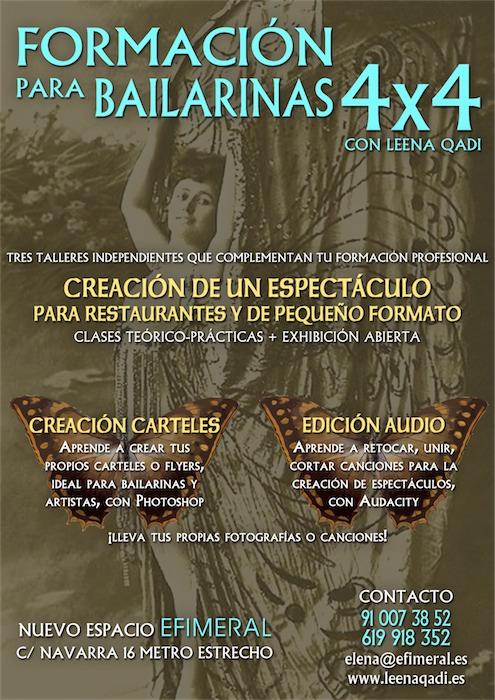 FORMACIÓN BAILARINAS 4x4: CREACIÓN DE CARTELES CON PHOTOSHOP