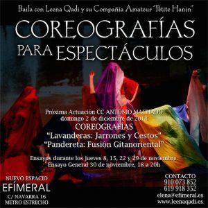 Coreografías de Danza del Vientre para Espectáculos @ Espacio Efímeral