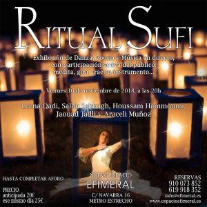 Ritual Sufi: giro, música en directo, participación del público... @ Espacio Efímeral