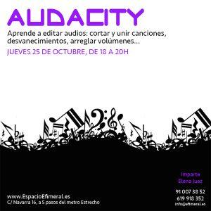 Curso de Audacity: edita pistas de audio @ Espacio Efímeral