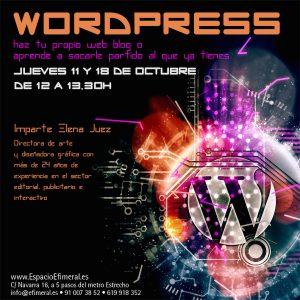 Curso de Wordpress: Crea o gestiona tu propia web @ Espacio Efímeral