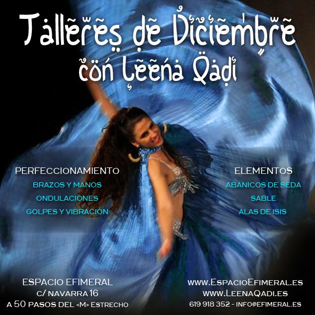 taller danza, danza del vientre, diciembre, perfeccionamiento, brazos y manos, ondulaciones, golpes y vibracion, alas de isis, abanicos de seda, sable